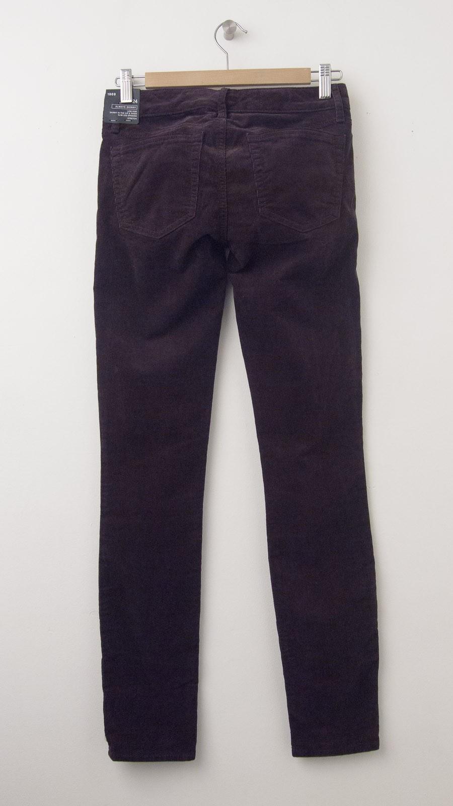 New Gap 1969 Always Skinny Cords Corduroy Pants In Port Wine