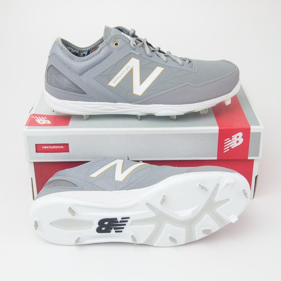 703f357dd New Balance Low Cut Minimus Metal Baseball Cleats MBBGR in Grey