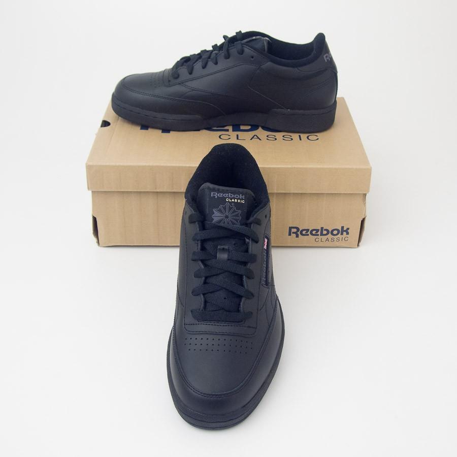 bfaa92de9e75 Reebok Men s Club C Classic Tennis Shoes V61892 in Black Charcoal