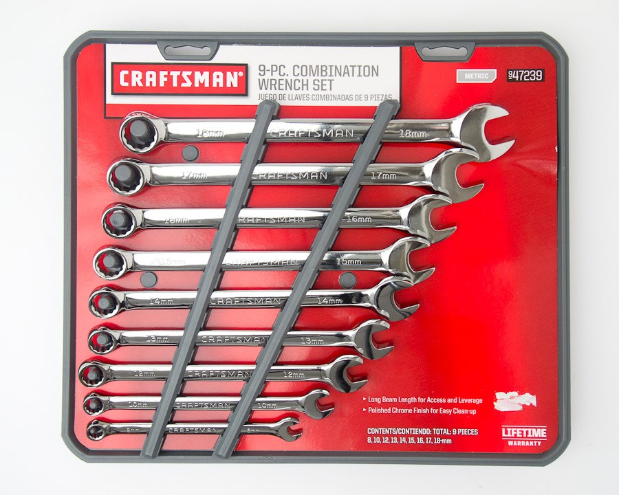 Craftman Combination set wrenches 9 pieces metric