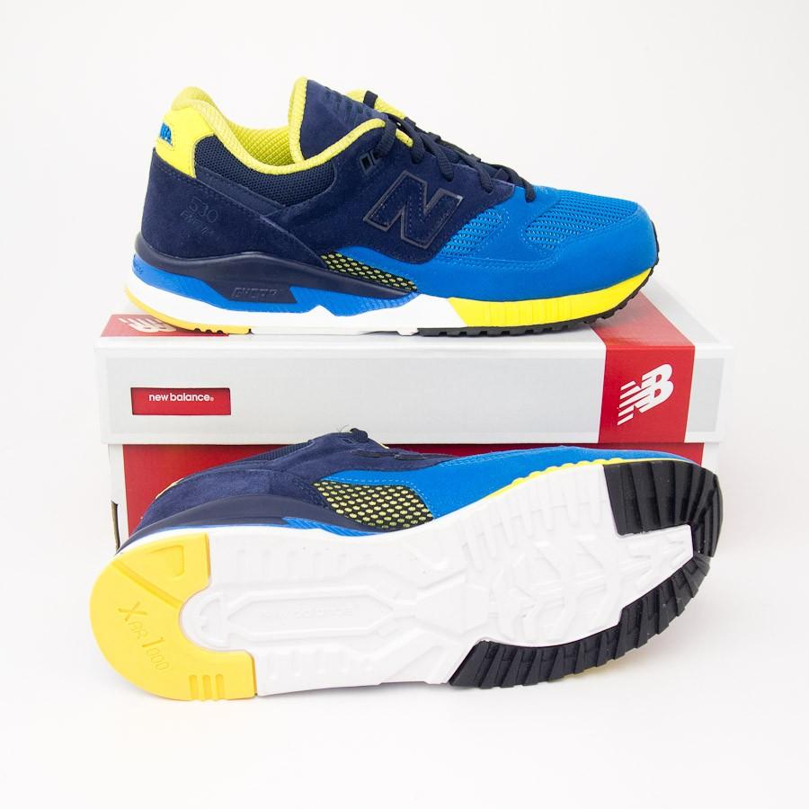 date de sortie: f30c3 4e6ff New Balance Men's 530 Bionic Boom Running Shoes M530RTB in Blue Sonar/Abyss