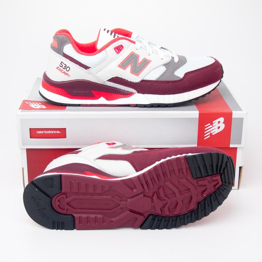 pretty nice 8394e 8c7eb New Balance Men's 530 Remix Running Shoes M530AAA in White/Burgundy/Orange