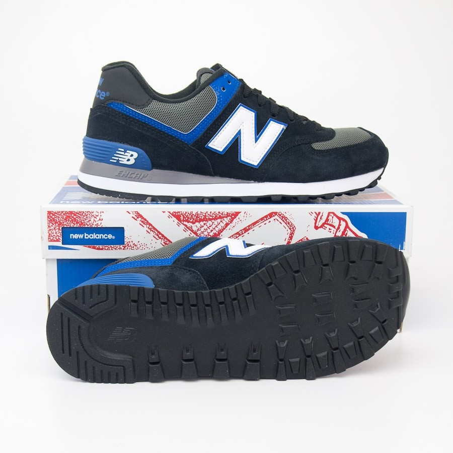 hot sale online 598db f832b New Balance Men's Core Plus 574 Classics Running Shoes ML574AAB in Black