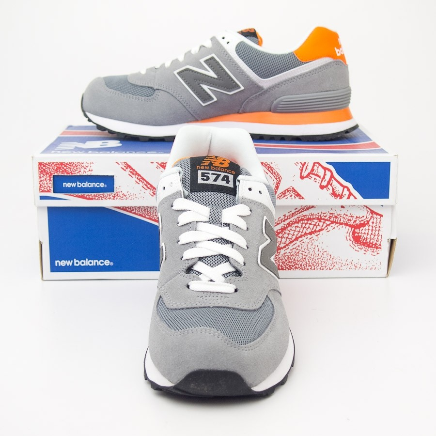 New Balance Men's Core Plus 574 Classics Running Shoes ML574CPL in Grey