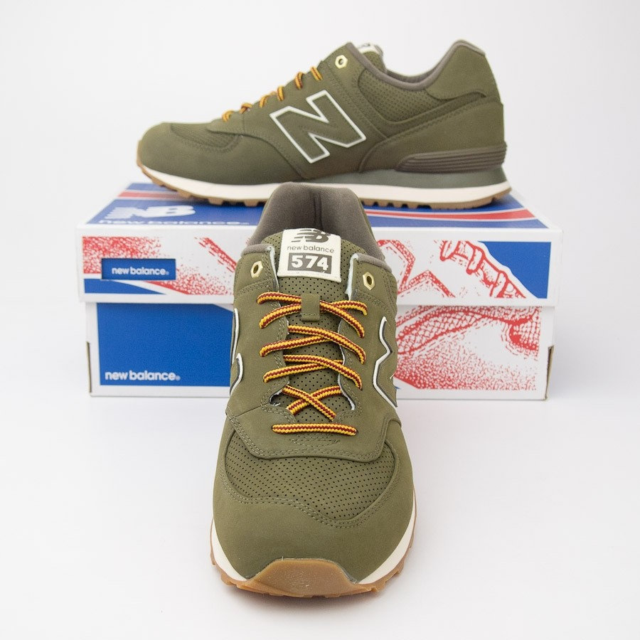 finest selection 73c37 7d632 New Balance Men's Outdoor 574 Classics Running Shoes ML574HRX in Olive