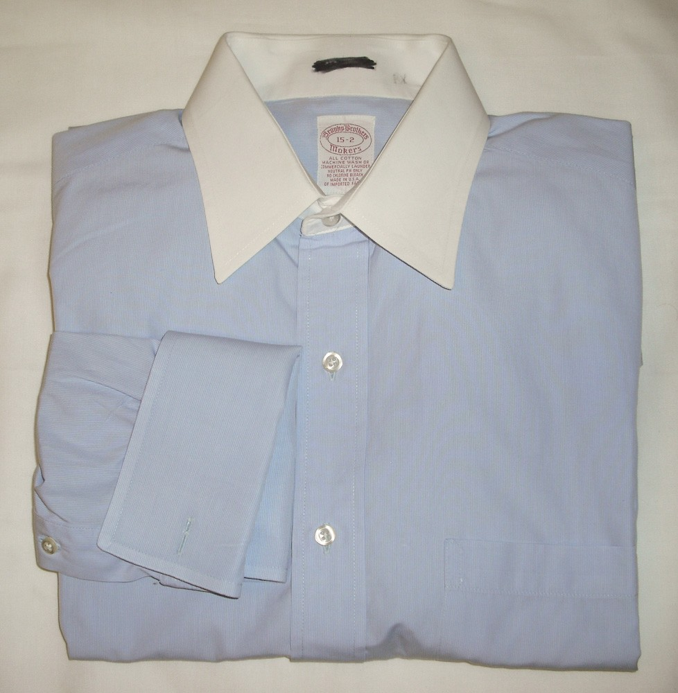 Brooks brothers dress shirt w french cuffs men 39 s 15 2 for Brooks brothers boys shirts