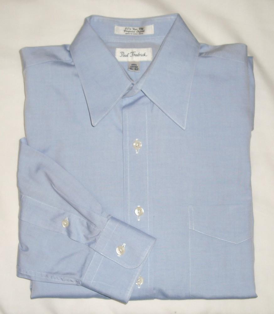Paul Fredrick Pinpoint Oxford Dress Shirt Men 39 S 15 32