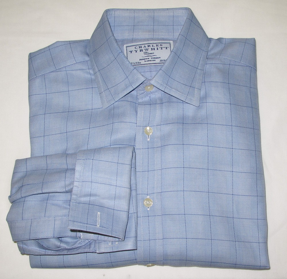 Charles tyrwhitt glenplaid dress shirt w french cuffs men for Mens dress shirts charles tyrwhitt