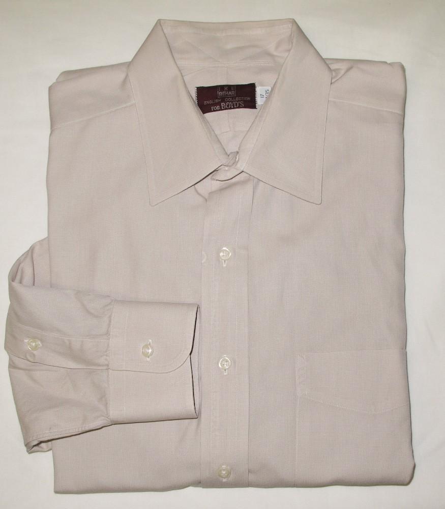 Ike Behar English Collection For Boyds Dress Shirt Mens 17 3435