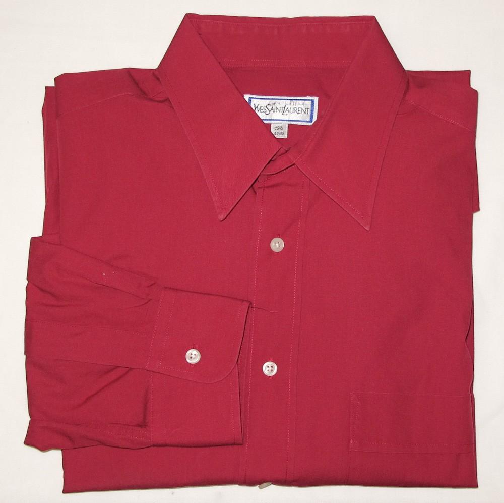 Yves Saint Laurent Dress Shirt Mens 155 3435