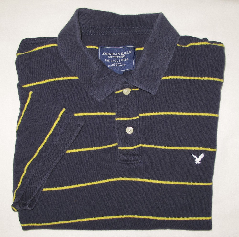 0451017d0f7 American Eagle Outfitters Eagle Polo Shirt Men's L - Large