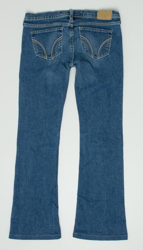 hollister cali flare jeans womens 0s 0 short hemmed
