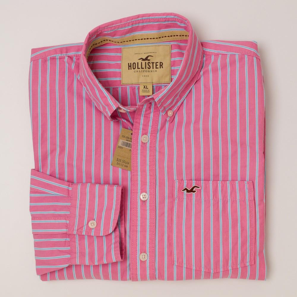 5459d1b8 Hollister Striped Button-Down Shirt Men's XL - Extra Large