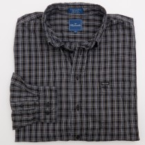Faconnable Check Twill Shirt Men's 2XL - XXLarge