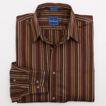 Faconnable Striped Button-Down Shirt Men's M - Medium