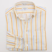 Faconnable Striped Dress Shirt Men's 3 - 15.5 L - Long