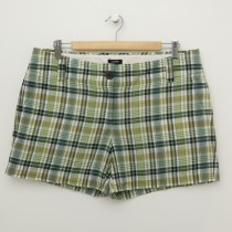 J. Crew City Fit Plaid Shorts Women's 12