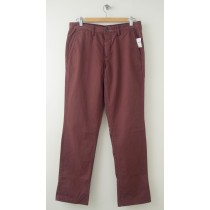 NEW Gap Men's 1969 Slim Fit Denim Washed Khaki Pants in Vintage Wine