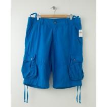"""NEW Gap 12"""" Poplin Cargo Shorts in Blue Rapid Men's 35"""