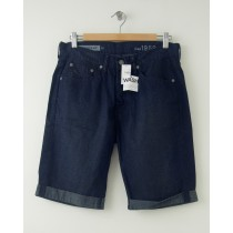 NEW Gap Men's 1969 Straight Fit Cuffed Denim Shorts in Navy Wash