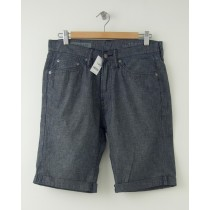 NEW Gap 1969 Straight Fit Cuffed Denim Shorts in Blue Grey Wash 30
