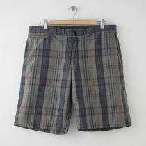 Banana Republic Plaid Linen Shorts Men's Size 35