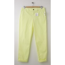 NEW Gap Neon Broken-In Straight Khaki Pants in Bright Lemon Meringue