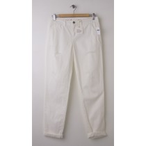 NEW Gap Destructed Broken-In Straight Khaki Pants in New Off White