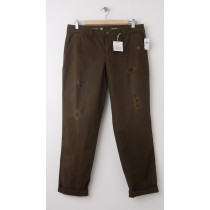 NEW Gap Destructed Broken-In Straight Khaki Pants in Pioneer Brown