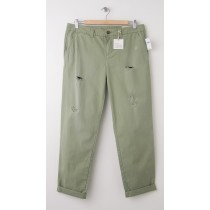 NEW Gap Destructed Broken-In Straight Khaki Pants in Light Olive