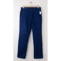 NEW Gap Men's 1969 Slim Fit Denim Washed Khaki Pants in Deep Cobalt