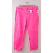 NEW Gap Neon Broken-In Straight Khaki Pants in Neon Pink