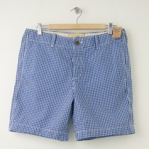 NEW Hollister Marina Park Shorts in Blue Gingham Plaid