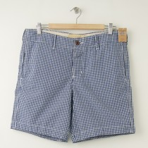 NEW Hollister Marina Park Shorts in Navy Gingham Plaid