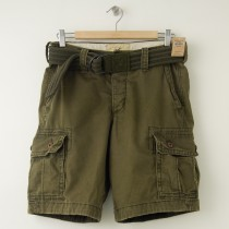 NEW Hollister Faria Beach Cargo Shorts in Olive Green