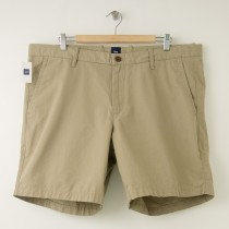"NEW Gap Flat Front 8"" Short in Chino Iron"