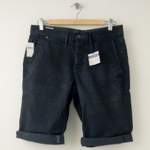 NEW Gap 1969 Denim Washed Khaki Slim Fit Roll-Up Short in Gunpowder