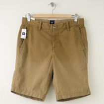 "NEW Gap Flat Front 9.5"" Sun-Washed Short in Cream Caramel"