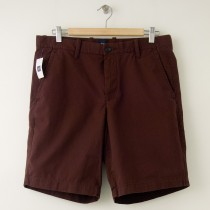 "NEW Gap Flat Front 10"" Short in Cherrywood Men's 33"