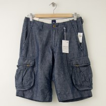 NEW Gap Washable Linen Blend Chambray Cargo Shorts Men's 28