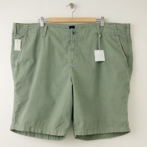 NEW Gap Garment Dyed Bedford Shorts in Gasoline Green Men's 46