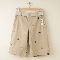 NEW Old Navy Embroidered Khaki Shorts with Belt  Boy's 16