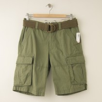 NEW Old Navy Cargo Shorts in Green Ripstop with Belt  Men's 28
