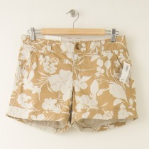 NEW Old Navy Tropical Hibiscus Print Shorts in Tan