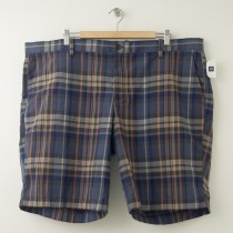 NEW Gap Flat Front Large Plaid Shorts in Orange Plaid Men's 46