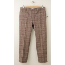 NEW Gap Slim Cropped Pants in Camel Plaid