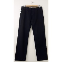 NEW Gap Straight Fit Classic Khaki Pants in Chino Black Men's 33 x 34