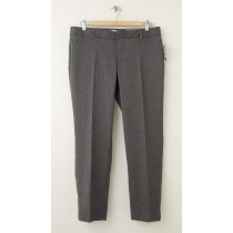NEW Gap Slim Cropped Pants in Grey Herringbone