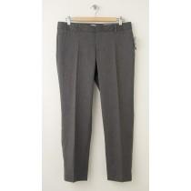 NEW Gap Slim Cropped Pants in Grey Herringbone