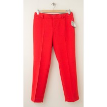 NEW Gap Slim Cropped Pants in Bright Red